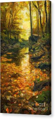 Old Hidden Creek Canvas Print by Celestial Images