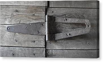 Canvas Print featuring the photograph Old Hinge by J L Zarek