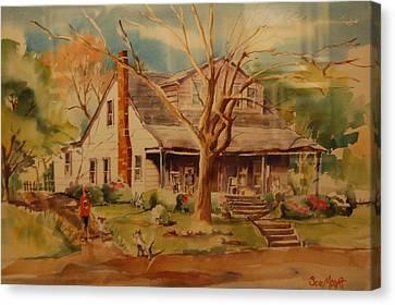 Old Home  Canvas Print by Lynn Beazley Blair