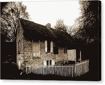 Old Home Of David Rittenhouse, Fairmount Park Canvas Print by Litz Collection