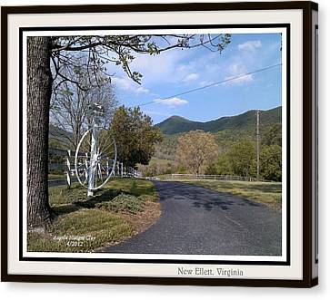 Canvas Print featuring the digital art Old Homeplace In New Elliett Va by Angelia Hodges Clay