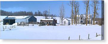 Old Homestead 33 Canvas Print by Susan Crossman Buscho