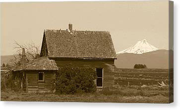 Old Homestead Canvas Print by Angie Vogel