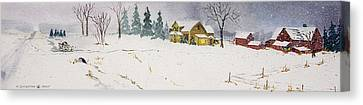 Old Homestead Canvas Print by Susan Crossman Buscho