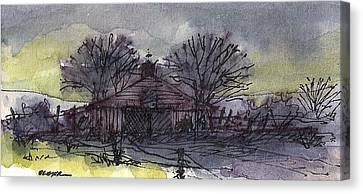 Canvas Print featuring the mixed media Old Homestead by Tim Oliver