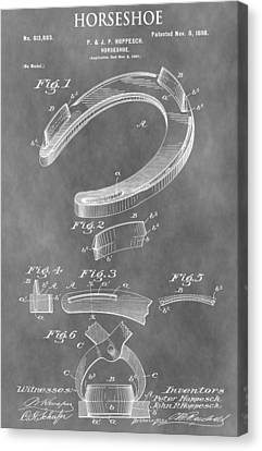 Old Horseshoe Patent Canvas Print by Dan Sproul