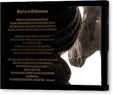 Old Horsewoman Canvas Print