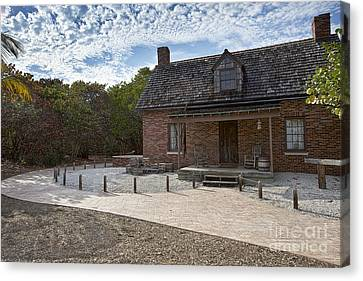 Old House At Bill Baggs Canvas Print by Eyzen Medina