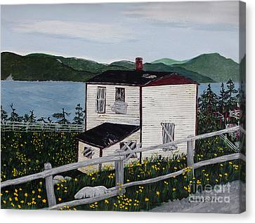 Old House - If Walls Could Talk Canvas Print by Barbara Griffin