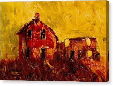 Abandoned Houses Canvas Print - Old House Near Stirling by Jim Vance