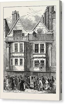 Old Houses In Fleet Street Near St Canvas Print