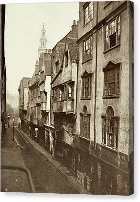 Old Houses In Wych Street. Canvas Print