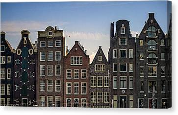 Old Houses Of Amsterdam. Holland Canvas Print by Jenny Rainbow