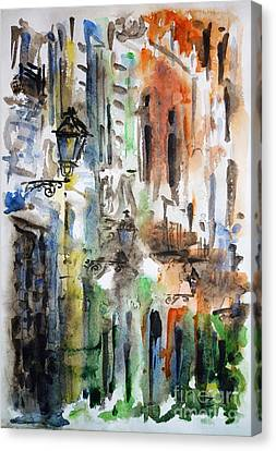 Juans Canvas Print - Old Houses Of San Juan by Zaira Dzhaubaeva