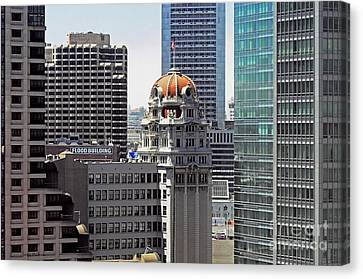 Canvas Print featuring the photograph Old Humboldt Bank Building In San Francisco by Susan Wiedmann
