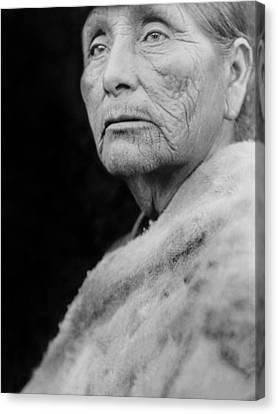 Old Hupa Woman Circa 1923 Canvas Print