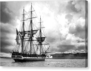 Warship Canvas Print - Old Ironsides by Peter Chilelli