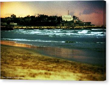 Old Jaffa In Storm 2 Canvas Print by Isaac Silman