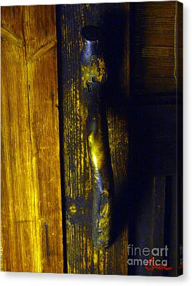Old Japanese House Door Handle 02 Canvas Print by Feile Case