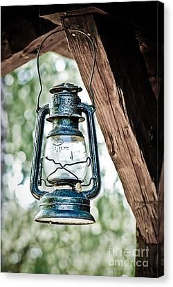 Old Kerosene Lantern. Canvas Print by Jt PhotoDesign