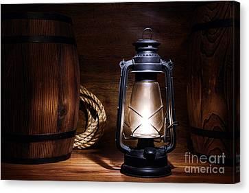 Old Kerosene Lantern Canvas Print by Olivier Le Queinec