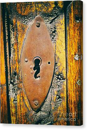 Old Key Hole Canvas Print by Nicola Fiscarelli