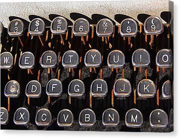 Old Keyboard Canvas Print