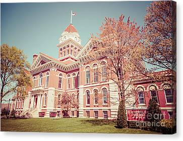 Court House Canvas Print - Old Lake County Courthouse Retro Photo by Paul Velgos