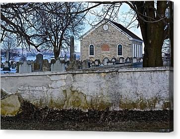 Old Leacock Presbyterian Church And Cemetery Canvas Print