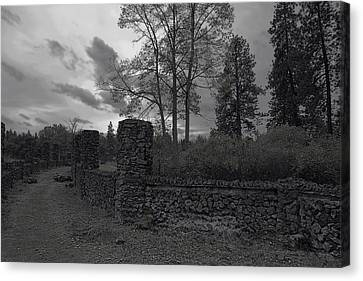 Old Liberty Park Ruins In Spokane Washington Canvas Print by Daniel Hagerman