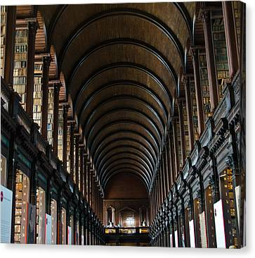 Old Library Canvas Print by Mesha Zelkovich