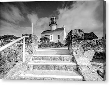 Canvas Print featuring the photograph Old Light House by Robert  Aycock