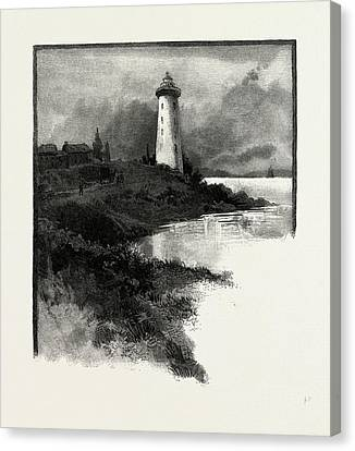 Old Lighthouse, Prescott, Canada Canvas Print by Canadian School
