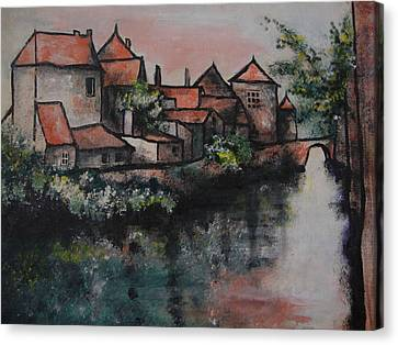 Old Little Village Canvas Print