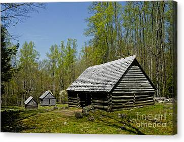 Mountain Cabin Canvas Print - Old  Log Barn by Paul W Faust -  Impressions of Light