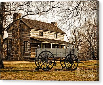 Old Log Cabin In Autumn Canvas Print