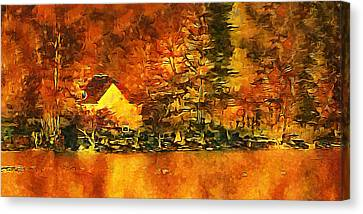 Old Log Cabin Canvas Print by Roman Solar
