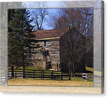 Old Log Home Canvas Print by Walter Herrit