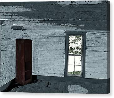Old Log House Interior Canvas Print