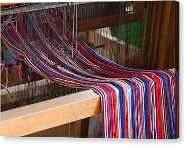 Old Loom For Yarn Canvas Print by Salvatore Meli