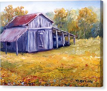 Old Louisiana Barn In Pasture Landscape Canvas Print