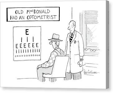 Old Macdonald Had An Optometrist Canvas Print by Leo Cullum