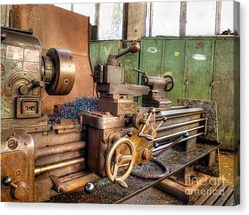 Old Machinery Canvas Print by Sinisa Botas