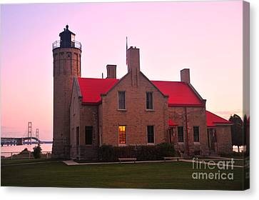 Canvas Print featuring the photograph Old Mackinac Point Lighthouse by Terri Gostola