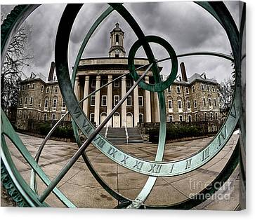 Old Main Through The Armillary Sphere Canvas Print by Mark Miller