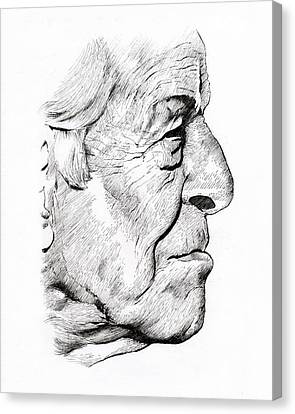 Old Man Canvas Print by Alex Rodriguez