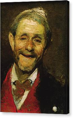 Toothless Canvas Print - Old Man Laughing, 1881 Oil On Canvas by A Beridze