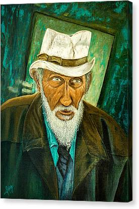 Clothed Canvas Print - Old Man by Manuel Lopez