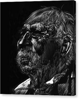 Old Man Canvas Print by Michele Engling