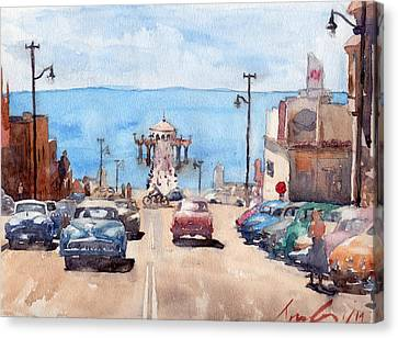 Long Street Canvas Print - Old Manhattan Beach by Max Good